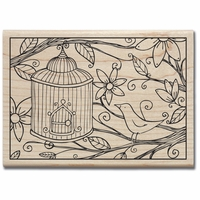 Hampton Art Wood Rubber Stamps