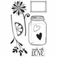 "Hero Arts Clear Stamps 4""x6"" Sheet - Love Jar"