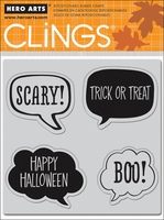 Hero Arts Cling Stamps - Scary!