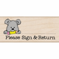 "Hero Arts Mounted Rubber Stamp 1.5""x1.75"" - Please Sign & Return Pup"