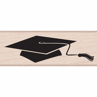 "Hero Arts Mounted Rubber Stamp 2.75""x1"" - Grad Cap"