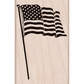 Hero Arts Mounted Rubber Stamp - American Flag