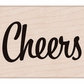 Hero Arts Mounted Rubber Stamp - Bold Cheers