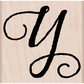 Hero Arts Mounted Rubber Stamp - Distressed Script Y