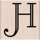 Hero Arts Mounted Rubber Stamp - Engraved H