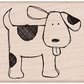 Hero Arts Mounted Rubber Stamp - Happy Dog