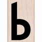 Hero Arts Mounted Rubber Stamp - Lowercase B