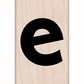 Hero Arts Mounted Rubber Stamp - Lowercase E