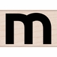 Hero Arts Mounted Rubber Stamp - Lowercase M