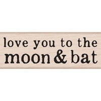 Hero Arts Mounted Rubber Stamp - Moon & Bat