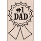 Hero Arts Mounted Rubber Stamp - Number One Dad