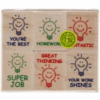 "Hero Arts Mounted Rubber Stamp Set 3""x3"" - Great Thinking Teacher"