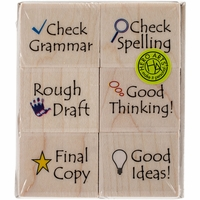 "Hero Arts Mounted Rubber Stamp Set 3""x3"" - Notes To Students"