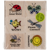 "Hero Arts Mounted Rubber Stamp Set 3""x3"" - Words Of Encouragement"