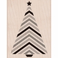Hero Arts Mounted Rubber Stamp - Striped Tree w/Star