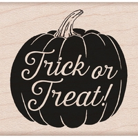 Hero Arts Mounted Rubber Stamp - Trick Or Treat Pumpkin