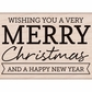 Hero Arts Mounted Rubber Stamp - Wishing You A Very