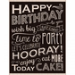Hero Arts Mounted Rubber Stamps - Birthday Blackboard
