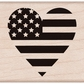 Hero Arts Mounted Rubber Stamps - Heart Flag