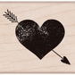 Hero Arts Mounted Rubber Stamps - Heart w/Arrow