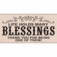 Hero Arts Mounted Rubber Stamps - Many Blessing's