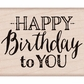 Hero Arts Mounted Rubber Stamps - Mixed Fonts Birthday