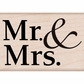 Hero Arts Mounted Rubber Stamps - Mr. & Mrs.