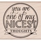 Hero Arts Mounted Rubber Stamps - Nicest Thoughts