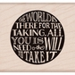 Hero Arts Mounted Rubber Stamps - World For Taking