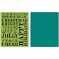 Hero Arts Textured Impressions Embossing Folders - Christmas Words & Dots