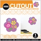 Hip In a Hurry 3D Decor Cut Outs - Flower-Purple