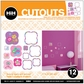 Hip In A Hurry 3D Decor Cut Outs - Puff-Flower 1