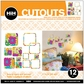 Hip In A Hurry 3D Decor Cut Outs - Square-Flower