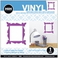 Hip In A Hurry Vinyl Paint Rub-On - Purple Frame
