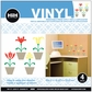 Hip In A Hurry Vinyl Paint Rub-Ons - Flower Pots