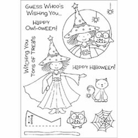 Honeypop Clear Stamp Set - Halloween Witch