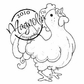 Hoppy Easter Cling Stamp - Rooster