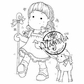 Hoppy Easter Cling Stamp - Tilda As Shepherd
