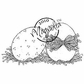 Hoppy Easter Cling Stamp - Two Eggs