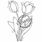 Hoppy Easter Cling Stamp - Two Tulips