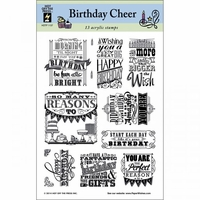 Hot Off The Press Acrylic Stamps - Birthday Cheer