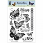 Hot Off The Press Acrylic Stamps - Butterflies