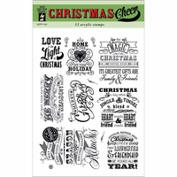 Hot Off The Press Acrylic Stamps - Christmas Cheer