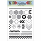 Hot Off The Press Acrylic Stamps - Happy Patterns
