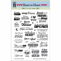 Hot Off The Press Acrylic Stamps - Heart To Heart Greetings