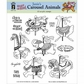 Hot Off The Press Acrylic Stamps - Janie's Carousel Animals
