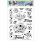 Hot Off The Press Acrylic Stamps - Serendipity Flowers