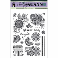 Hot Off The Press Acrylic Stamps - Simply Susan