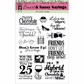 Hot Off The Press Acrylic Stamps - Smart and Sassy Sayings