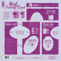 Hot Off The Press Template - Oval Swing Card